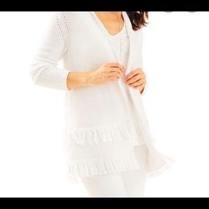 Lilly Pulitzer White Thomsen Cardigan Sweater
